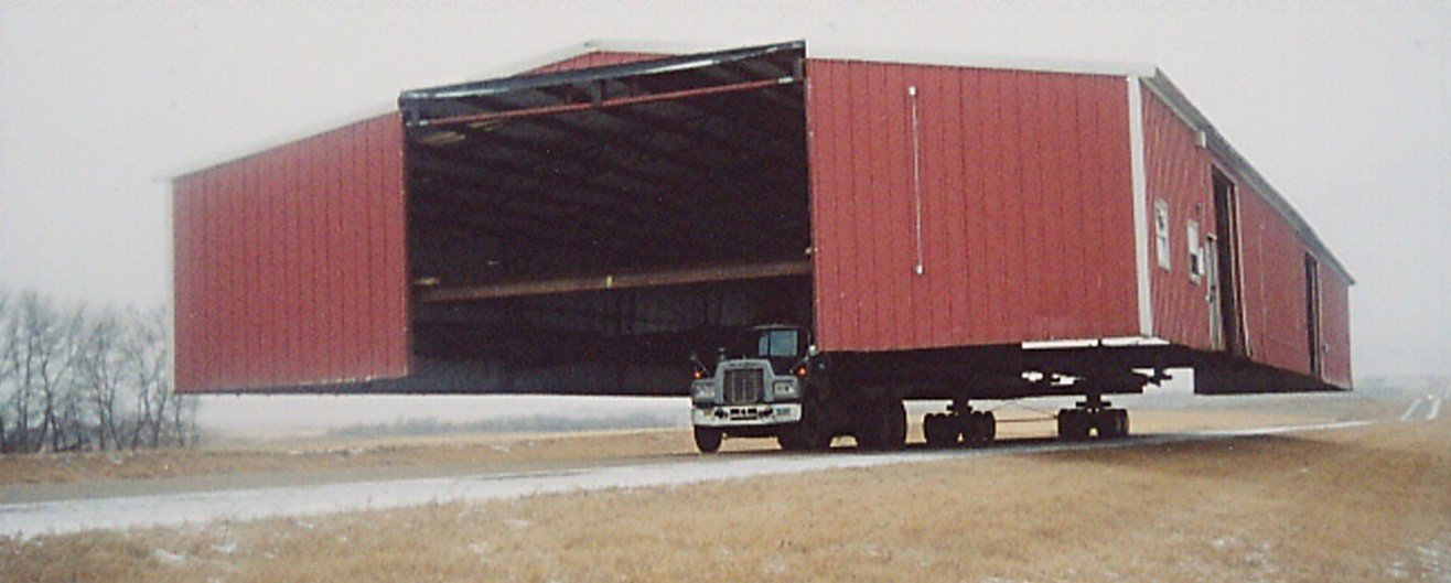 Oversized loads have to be transported at certain times of the day.